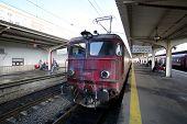 BUCHAREST, ROMANIA - MAY 15, 2014:  A Compania Nationala de Cai Ferate