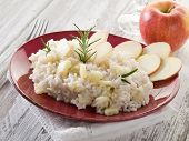 risotto with apple, healthy food