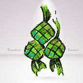 Vector Crayon Ketupat (Rice Dumpling). Translation: Ramadan Kare