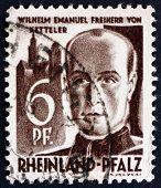 Postage Stamp Rhine Palatinate, Germany 1947 Wilhelm Emmanuel Von Ketteler