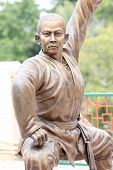 Chinese Buddhist Priest Statue.