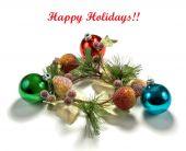 Holiday greeting background