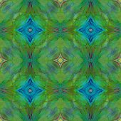 image of green-winged macaw  - Beautiful background seamless pattern made from Green winged Macaw feathers - JPG