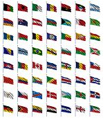 World Flags Set 1 of 4 - A to E - set of flags in alphabetical order from Afghanistan to Equatorial