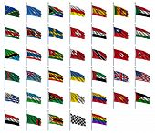 World Flags Set 4 of 4 - S to Z - set of flags in alphabetical order from Solomon Islands to Zimbabw