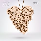 pic of special day  - Vintage styled frame with text for Mother - JPG