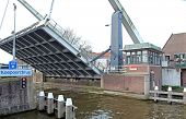 Moveable Bridge In Delft, Netherlands