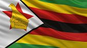 Flag of Zimbabwe waving ni the wind