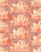 Sketch Sydney Opera, Vector Seamless Pattern