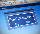 Paying Bills Online Concept.