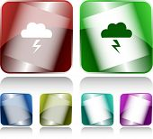 Storm. Internet buttons. Vector illustration.