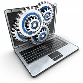 Laptop And Gears