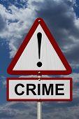 Crime Caution Sign