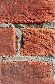 picture of mortar-joint  - Rustic weathered bricks in an old buidling are view close - JPG