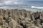 Pancake Rocks With Ocean