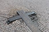 Fragment Of Wooden Cross On Wenceslas Square
