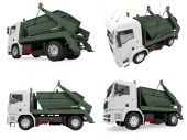 picture of monster-truck  - Isolated collection of dump truck over white background - JPG