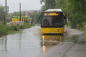 Bus In Floods