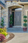 picture of brownstone  - A nice entrance of a luxury house - JPG