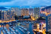 image of typhoon  - Aberdeen typhoon shelter - JPG