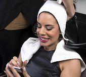 Beautiful Woman at Hair Salon