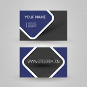 Blue Business or Gift Card Design