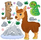 Mountain animals theme collection 1 - eps10 vector illustration.