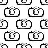 Seamless pattern of a compact camera
