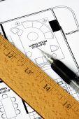 ein Architekt bereitet der Floorplan eine Residenz