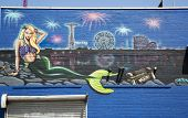 Mural at Coney Island section of Brooklyn