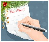 stock photo of letters to santa claus  - Child - JPG