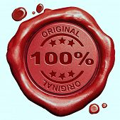 100% percent original and authentic product red wax seal stamp