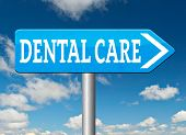 pic of health center  - dental care center road sign oral hygiene or surgery for healthy teeth without caries but with a beautiful smile with text  - JPG