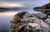 Lake In Autumn Sunrise Reflection