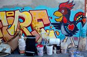 Street art Montreal rooster