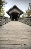 picture of covered bridge  - Wooden Covered Bridge Guelph Ontario over eramosa river