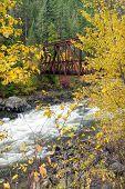 Wenatchee River And Bridge.
