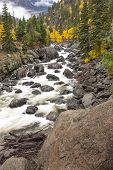 Icicle Creek In Autumn.