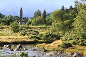 Medieval tower in Wicklow Mountains National Park.