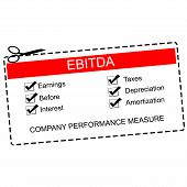 picture of amortization  - EBITDA Red Coupon Concept with great terms such as earnings taxes interest and more - JPG