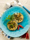 grilled swordfish with mint and hot chili pepper