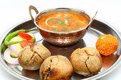 picture of rajasthani  - Traditional Rajasthani Food Daal Baati - JPG