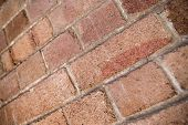 Shallow Dof Perspective Of Weathered Red Bricks In Sydney, Australia