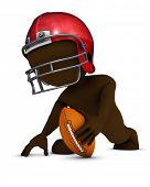 3D Render of Morph Man playing american football