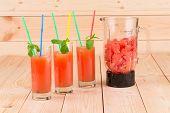 Grapefruit juice and blender.