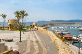 Watchtowers On The City Walls In Alghero