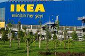 Ankara, Turkey - June 17, 2012: Front entrance of IKEA store in Ankara, Turkey.