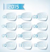 2015 Yearly Calendar. Sticker labels design illustration
