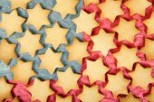 Christmas Biscuits America Flag