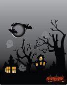 Halloween Party flyer wtht dark house